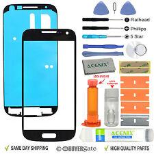 Samsung Galaxy S4 Mini Front Glass Lens Screen Replacement Kit Black UV Glue