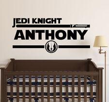 Star Wars Jedi Knight Name Wall Decal Sticker Vinyl Decor Wall Art Death Star