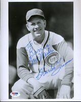 Charlie Grimm Psa/dna Signed 8x10 Photo Authentic Autograph