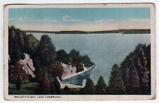 MALLETTS BAY Lake Champlain VERMONT PC Postcard EAST MIDDLEBURY Colchester VT
