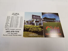 St. Lucie Mets/New York Mets Spring Training 1989 Baseball Pocket Schedule