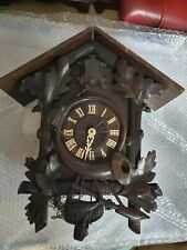 LARGE ANTIQUE CUCKOO CLOCK FOR PARTS OR RESTORATION