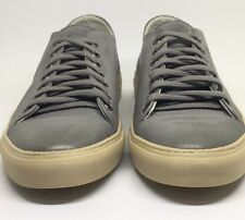 Dino Draghi Grey Pebbled Leather Men's Classic Lace-Up trainers UK size 7, UE 41