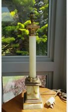 Original french marble onyx Oil Lamp base table lamp 48cm electric Electrified