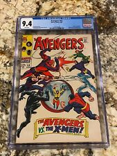 AVENGERS #53 CGC 9.4 RARE WHITE PAGES X-MEN VS AVENGERS NEW MOVIE SOON INVEST