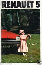 ▬►Brochure Prospekt  Prospectus 1979 RENAULT 5 R5 ALPINE TS GTL French 1979/80
