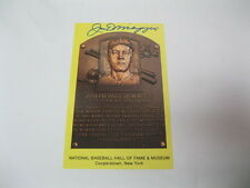 Joe DiMaggio Autographed Hall of Fame Postcard