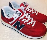 New Balance 574 Sneakers Red White Blue Mens Size 10.5 Running Shoes ML574SCH