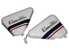 Norton Commando 750 Tool Box Oil Tank Side Panel White Blue Red Stripe CAD