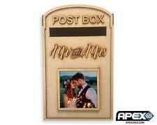 PixieBitz Wedding Party Post Box - Mr and Mrs 1 Photo Frame