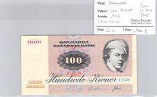BILLET DANEMARK - 100 KRONER 1972 - QUASI NEUF - RARE EN BON ETAT !!!