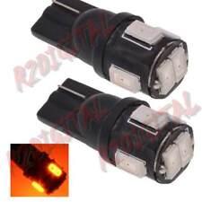 COPPIA LAMPADE LED T10 W5W COLOR ARANCIONE 5 POWER SMD 2W PORTAOGGETTI ABITACOLO