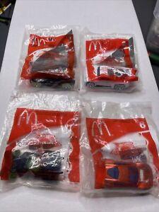 Hot Wheels 2005 Acceleracers - 4 Car Lot - McDonalds - 1,2,5 And 6 Rare Htf