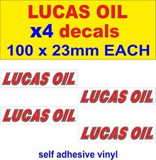4 Lucas Oil Stickers Rally Race Motorbike Classic Décalques Voiture Van Camion MINI DUB