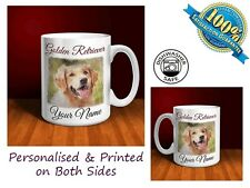 Golden Retriever Personalised Ceramic Mug: Perfect Gift.(D101)