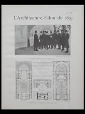 L'ARCHITECTURE - SALON 1899- CASERNE POMPIERS MONTMARTRE PARIS, GUYON,ST MAURICE