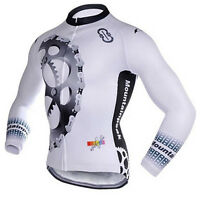 Winter Fleece Cycling Jerseys Thermal Long Sleeve Mtb Bike Bicycle Jacket S-5XL