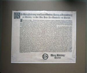 Einblattdruck von 1711                                                (Art.4123)