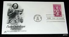 BABE DIDRIKSON ZAHARIAS 1981 FIRST DAY COVER 1932 OLYMPIC TRACK & GOLF CHAMPION