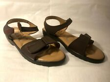 Bata Women's Flat Sandals Size 7 Brown Leather