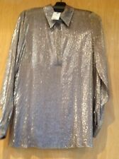ec7604f24d7 GUCCI NWT shimmering brown gold blouse top size 44 made in Italy soft and
