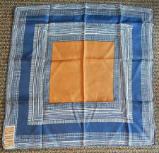"Vintage Bill Blass Silk Designer Scarf 20 1/2"" Square Made by Glentex Usa"
