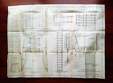 1898 Engineering Construction Diagram Narrows Dam Yuba River CA