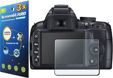 3x Clear LCD Screen Protector Guard Cover Film Nikon Digital SLR D3000 D3100