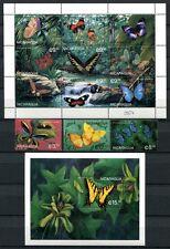 NICARAGUA 2003 Schmetterlinge Butterliess Papillon Farfalla 3942-53 + Bl. 279 **