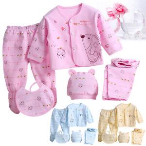 Organic Cotton Newborn Infact Baby Girl Boy Clothing Outfit Set Spring Fall Wear