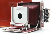 【 Rare!! RED w/ TRUNK 】 LINHOF MUNCHEN 5x7 Large Format Film Camera from JAPAN