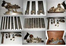 Antique Vintage Stanley No 45E Combination Carpentry Plane w/Blades-Case &Extras