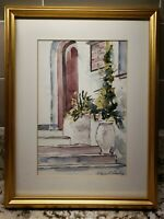 Wayne Chambers Original Watercolor Signed Matted Framed