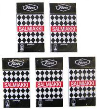 Fazer Salmiakki 5 packs x 40g box Finnish salmiakki