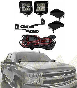 LED Combo Lights + Brackets + Wiring & Covers fits 2007-2013 Silverado / Sierra