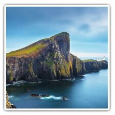 2 x Square Stickers 7.5 cm - Neist Point Isle Of Skye Scotland Cool Gift #16384