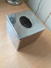 Tissue Box Italian Design Chrome Square Gift Modern Silver Storage Container