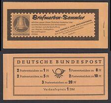 Federale markenheftchen 4 y II RLV II ** Heuss e paragrafo 1960 post freschi II. scelta