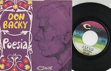 DON BACKY disco 45 g MADE in ITALY Poesia + Bum bum CLAN ADRIANO CELENTANO