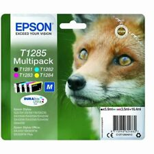 Epson Durabrite T1285 Fox Genuino Multipack Cartuchos de Tinta T1281,282,283,284