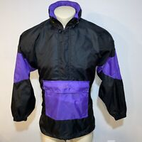 Vtg 80s 90s Colorblock ASICS Windbreaker Jacket Track suit NYLON hood Mens S / M