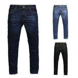 Mens Motorcycle ENGINEERED Protective Jeans Aramid lining Hip and knee Armour