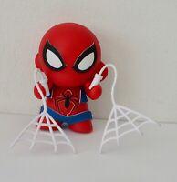 Spiderman with 2 webs - 10cm tall vinyl figure - Kidrobot (MAR1)