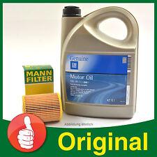 MANN-FILTER Ölfilter W 712/75 + 5 Liter GM Original Opel Motoröl Opel 5W-30 C3