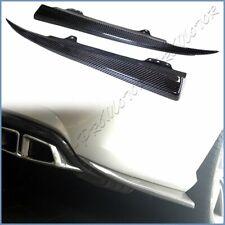 Fit W212 BENZ 10-13 E300 E350 E63 Sedan AMG Rear Bumper Carbon Side Splitter Lip
