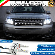 CONVERSIONE FARI FULL LED LAND ROVER FREELANDER 2 HB3 CANBUS BIANCO MONOLED