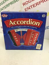 More details for tobar mini accordion children's musical toy with carrying straps new