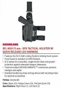 Safariland 6005 Tactical Gun Holster, SLS Hood, Qu