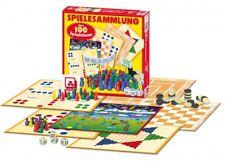 Spielesammlung 100 Spielmöglichkeiten Familienspiel Brettspiel Mühle Dame Halma