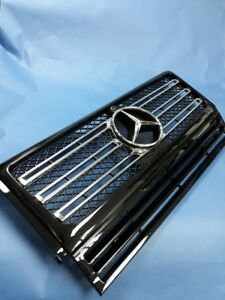 NEW W464 G500 STYLE BLACK FRONT GRILLE FOR 1986-2017 MERCEDES BENZ W463 G-CLASS